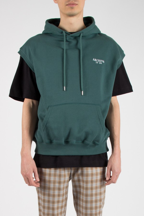 Archive 1820 Hoodie No Sleeves Green