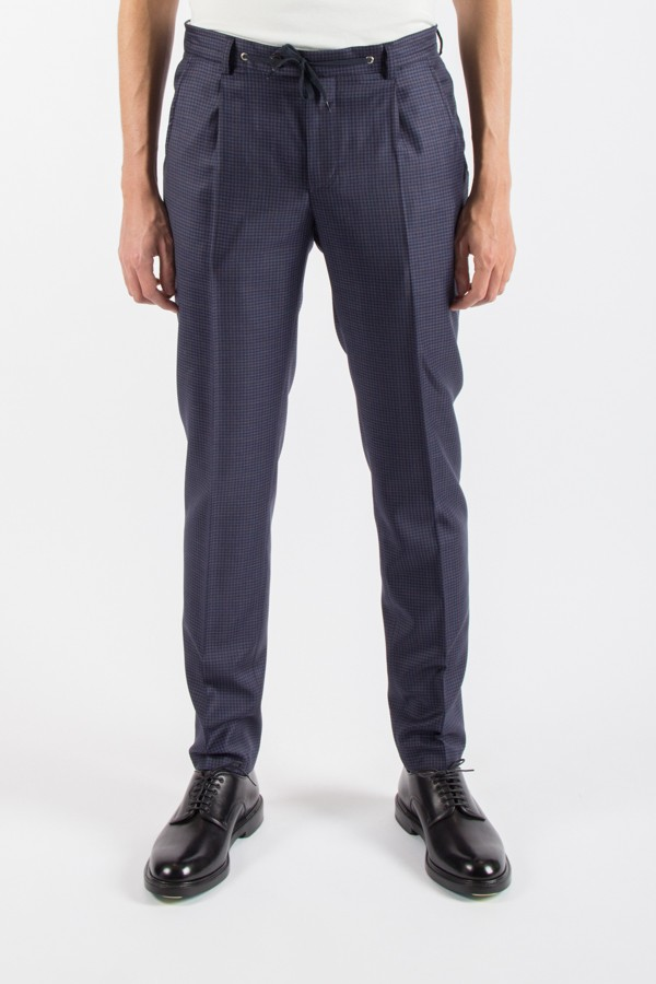 Raphael Blue Checks Pants